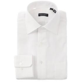【THE SUIT COMPANY:トップス】ワイドカラードレスシャツ 織柄 〔EC・CLASSIC SLIM-FIT〕
