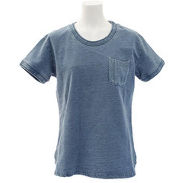 【Super Sports XEBIO & mall店:トップス】スウェット ポケット付きTシャツ 861EK8FQ5827LBLU