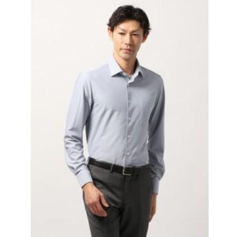 【THE SUIT COMPANY:トップス】<ノンアイロンジャージー素材>【WE SUIT YOU】ホリゾンタルカラードレスシャツ 織柄