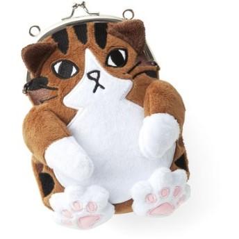 FELISSIMO フェリシモ もふもふにゃん 肉球付き猫がま口ポーチの会