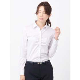 【THE SUIT COMPANY:トップス】【destyle】Easy Care Stretch Blouse スキッパーカラー