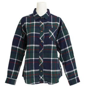 【Super Sports XEBIO & mall店:トップス】ネルチェックシャツ 8712500-52GRN