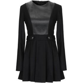《セール開催中》PHILIPP PLEIN レディース ミニワンピース&ドレス ブラック XS 紡績繊維 / 革