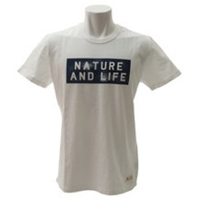 【Super Sports XEBIO & mall店:トップス】40/2 GRAPHIC 半袖Tシャツ N & L 863EK8HD5790 WHT
