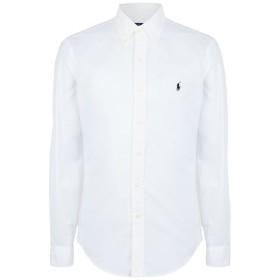 《セール開催中》POLO RALPH LAUREN メンズ シャツ ホワイト XXL コットン 100% Slim Fit Oxford Shirt
