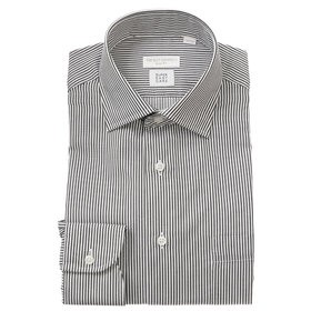 【THE SUIT COMPANY:トップス】【SUPER EASY CARE】ワイドカラードレスシャツ ストライプ 〔EC・SLIM FIT〕