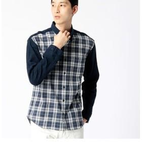 【COMME CA MEN:トップス】スペック染めチェックシャツ