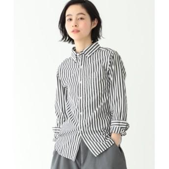 BEAMS BOY / ロンドンストライプ ボタンダウンシャツ レディース カジュアルシャツ BLACK 0