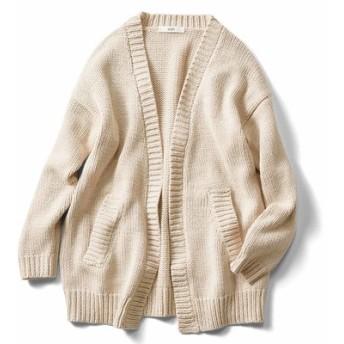 ラフに着たい綿混ざっくりカーディガン〈ライトベージュ〉 IEDIT[イディット] フェリシモ FELISSIMO【送料無料】