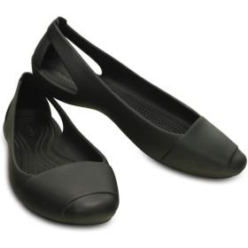 【クロックス公式】 クロックス シエンナ フラット ウィメン Women's Crocs Sienna Flat ウィメンズ、レディース、女性用 ブラック/黒 21cm,23cm,24cm,25cm,26cm flat フラットシューズ バレエシューズ ぺたんこシューズ