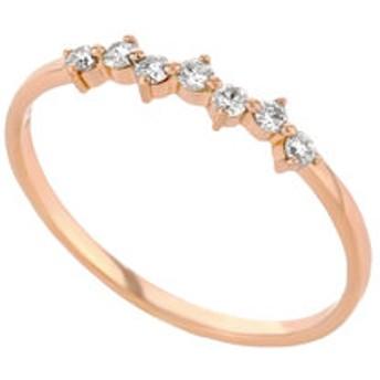 【Milluflora:アクセサリー】K18 ピンクゴールド ダイヤモンド(0.11ct)リング