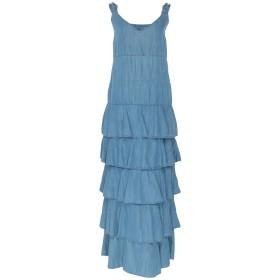 《期間限定セール開催中!》MY TWIN TWINSET レディース ロングワンピース&ドレス ブルー XS コットン 55% / テンセル 45%