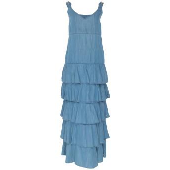 《セール開催中》MY TWIN TWINSET レディース ロングワンピース&ドレス ブルー XS コットン 55% / テンセル 45%