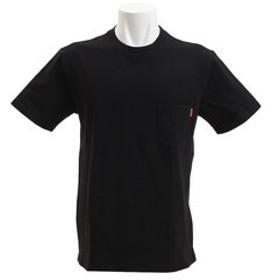【Super Sports XEBIO & mall店:トップス】無地タフTEE ポケット付き 半袖シャツ 1755103-7-BLK