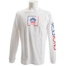 【Super Sports XEBIO & mall店:トップス】【オンライン限定特価】アメリカンボックス ロゴ長袖Tシャツ 187026 WHT
