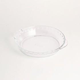 冷凍・レトルト食品のアレンジ幅広がる 耐熱ガラス皿 PYREX〈18cm〉 フェリシモ FELISSIMO【送料:450円+税】