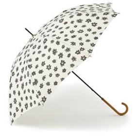 【KEYUCA:ファッション雑貨】長傘 晴雨兼用エアリーフラワー アイボリー