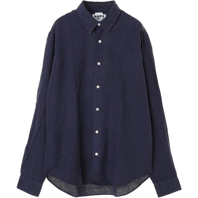 HOPE Air Clean Shirt カジュアルシャツ,ネイビー
