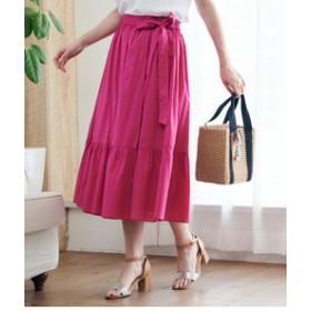 【ROPE' PICNIC:スカート】【WEB限定】ティアードラップスカート