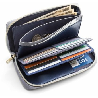 ポイント割り引きのがさない! ページをめくってカードを探せるスムーズ長財布 フェリシモ FELISSIMO【送料無料】