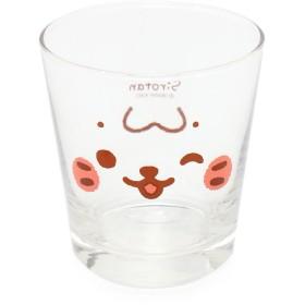 【オンワード】 Mother garden(マザーガーデン) しろたん タンブラーグラス コップ ガラス 容量330ml 顔ボン柄 0 キッズ