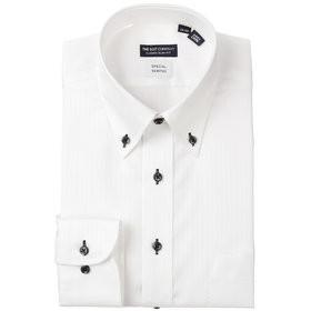 【THE SUIT COMPANY:トップス】ボタンダウンカラードレスシャツ シャドーストライプ 〔EC・CLASSIC SLIM-FIT〕