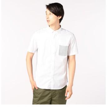 【FREDY & GLOSTER:トップス】リップルボーダーコンビシャツ
