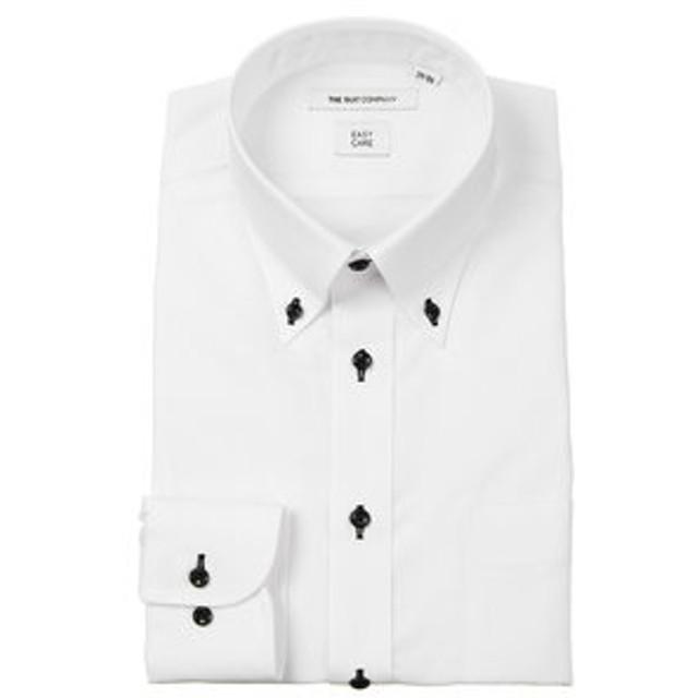 【THE SUIT COMPANY:トップス】ボタンダウンカラードレスシャツ 織柄 〔EC・FIT〕