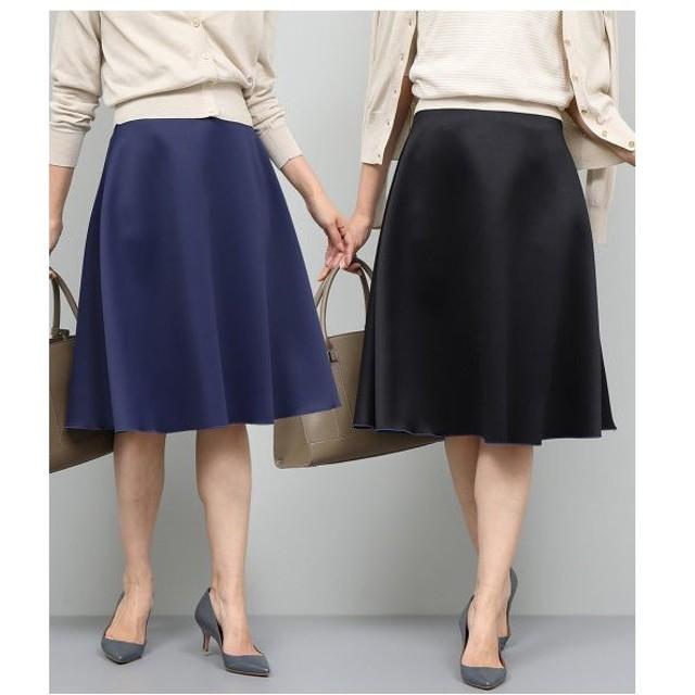 ROPE' / ロペ 【SS/S/Lサイズあり】ダブルフェイスリバーシブルフレアスカート