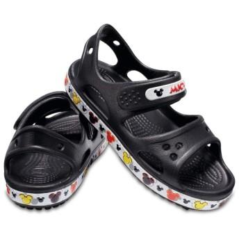 【クロックス公式】 クロックバンド ミッキー 2.0 サンダル PS Kids' Crocband Mickey Mouse II Sandal ユニセックス、キッズ、子供用、男の子、女の子、男女兼用 ブラック/黒 13cm sandal サンダル 30%OFF