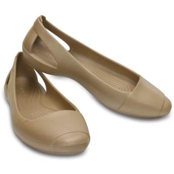 【クロックス公式】 クロックス シエンナ フラット ウィメン Women's Crocs Sienna Flat ウィメンズ、レディース、女性用 ブラウン/茶 22cm,23cm,24cm,26cm flat フラットシューズ バレエシューズ ぺたんこシューズ