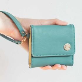 幸運を呼ぶミントグリーン 大人かわいい手のり財布 フェリシモ FELISSIMO【送料:450円+税】
