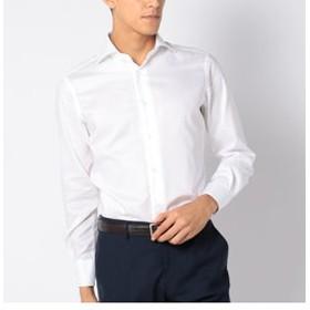 【SHIPS:トップス】SD:【ALBINI社製生地】オックスフォード ホリゾンタルカラー シャツ(ホワイト)