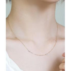 【SALE開催中】【SIENA ROSE:アクセサリー】Nudie Diamond・ネックレス[クリア]