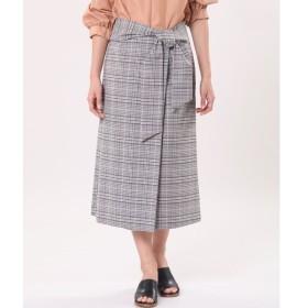 INED / ウエストリボンラップ風スカート