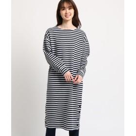 THE SHOP TK(Women)(ザ ショップ ティーケー(ウィメン)) 裾ボタン使いリップルワンピース