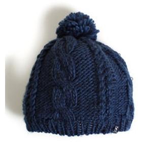【Super Sports XEBIO & mall店:帽子】ケーブルニットベレー帽 HU16FST898003BLU