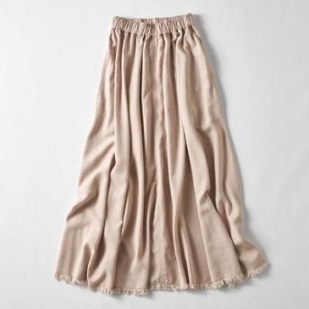 MEDE19F マキシ丈のボリュームスカート