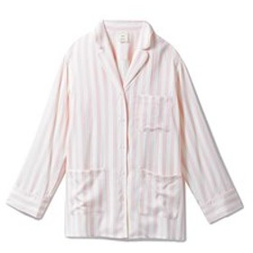 【gelato pique:アンダーウエア・部屋着】アニバーサリーストライプサテンシャツ