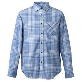 【Victoria Surf & Snow & mall店:スポーツ】M SCORON ボタンダウン チェックシャツ WE27JH04ブルー