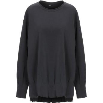 《セール開催中》EUROPEAN CULTURE レディース スウェットシャツ ブラック XXS テンセル 70% / コットン 23% / ポリウレタン 7%