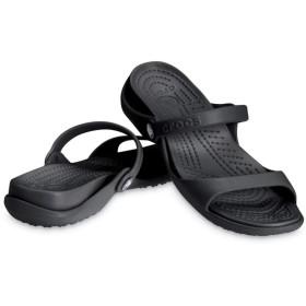 【クロックス公式】 クレオ サンダル Women's Cleo Sandal ウィメンズ、レディース、女性用 ブラック/黒 21cm,22cm,23cm,24cm,25cm sandal サンダル 40%OFF