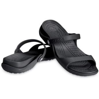 【クロックス公式】 クレオ サンダル Women's Cleo Sandal ウィメンズ、レディース、女性用 ブラック/黒 21cm,22cm,23cm,24cm,25cm sandal サンダル