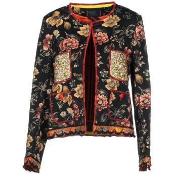 《セール開催中》FEMME by MICHELE ROSSI レディース テーラードジャケット ブラック 40 60% コットン 28% ナイロン 9% ポリエステル 3% ポリウレタン