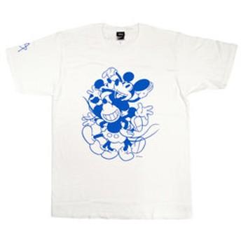【Mickey 90th Anniversary Magic of Color:雑貨】TシャツSTEVE NAKAMURAホワイトL