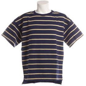 【Super Sports XEBIO & mall店:トップス】ボーダー 半袖Tシャツ 8512160-60NAV