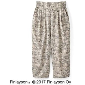 Finlayson フィンレイソン オトナカラーの麻混アンクルパンツ〈ニッティポルク〉 フェリシモ FELISSIMO【送料無料】