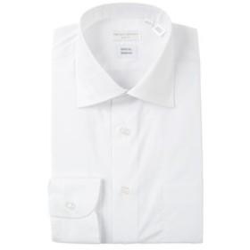 【THE SUIT COMPANY:トップス】【STRETCH COMFORT】ワイドカラードレスシャツ 無地 〔EC・SLIM FIT〕