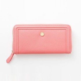 ワガママ企画 使いやすさをとことん追求 エレガントに映えるローズピンクの本革長財布〈ピンク〉 IEDIT[イディット] フェリシモ FELISSIMO【送料無料】