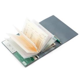 通帳とカードをまとめて家計管理! ページを開いて保管が便利な通帳ケースの会 フェリシモ FELISSIMO【送料:450円+税】